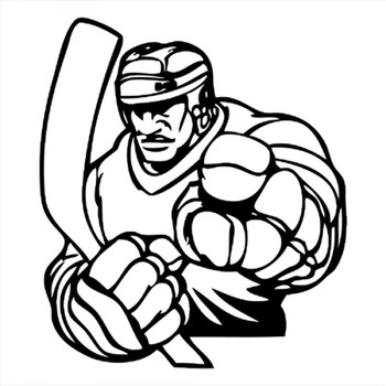 18x16cm SportMan ice hockey Lover Boy Stickers Car Window Glass Body Decoration Decal Accessories CL313 image
