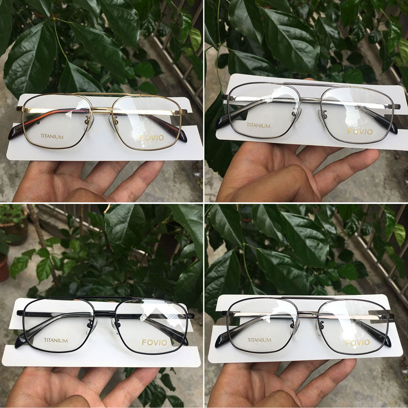 Image 3 - Classic rectangle spectacles titanium glasses frames for men and women gold/silver/black/greyMens Eyewear Frames   -