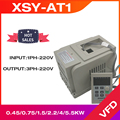 Frequency Converter VFD XSY-AT1 Inverter 1.5KW/2.2KW/4KW Single phase 220v Input and three-phase Output motor speed controller