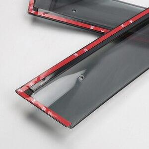 Image 5 - Abs viseiras da janela vento chuva sun defletor viseira guarda ventilação capa para peugeot 3008 3008 gt estilo do carro acessórios 2017 2019 2020