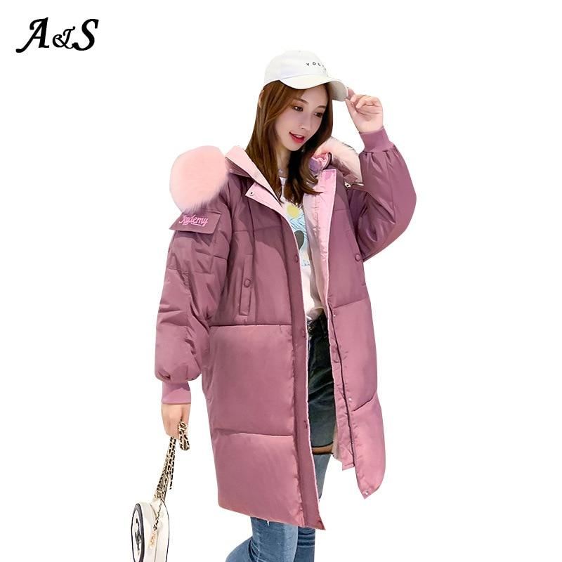 Купить anbenser женское зимнее теплое пальто с капюшоном размера плюс