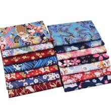 Tissu japonais en coton bronzant en fleurs de cerisier, pour couture de Kimono Cheongsam, sac personnalisé, bijoux, tissu Patchwork, DIY bricolage