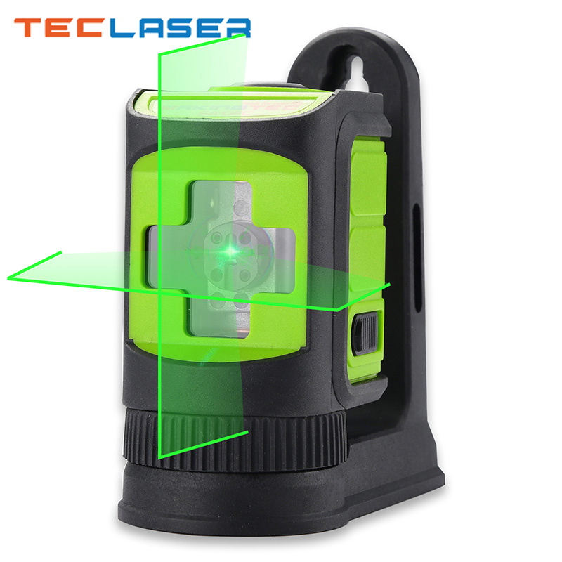 TECLASER Laser Level Red Green Beam Self-leveling Horizontal  amp  Vertical Laser Level Outdoor Home Construction Level Measure Tool