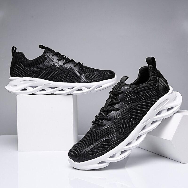 CARANFIER Men Sneakers Men Casual Shoes Brand Men Shoes Men Mesh Flats Plus Size Loafers Breathable Slip On Spring Autumn
