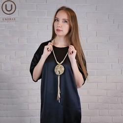 UKEBAY-collier avec pendentif pour femmes, vêtements ethniques, Long, chaîne pull fait à la main, grand bijou de luxe