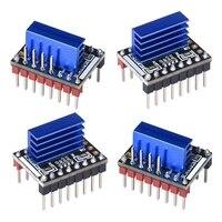 4 pces tmc5161 v1.0 passo do motor passo vara mudo motorista silencioso apoio spi com dissipador de calor para placa de controle impressora 3d|Peças e acessórios em 3D| |  -