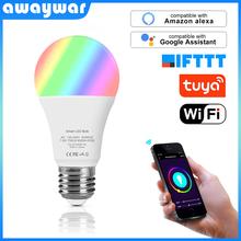 Awaywar Tuya Wifi Smart Led Bulb Lamp 6500K+RGB E27 Light hue Dimmer Works With Alexa Google Home Mini IFTTT Smart Home Life kit cheap LED Smart Bulb Flashing Tuya APP 750Lumens 7 5W 6500K + RGB AC 100-240V WiFi 2 4GHz Only IOS Android ≥50000 hours