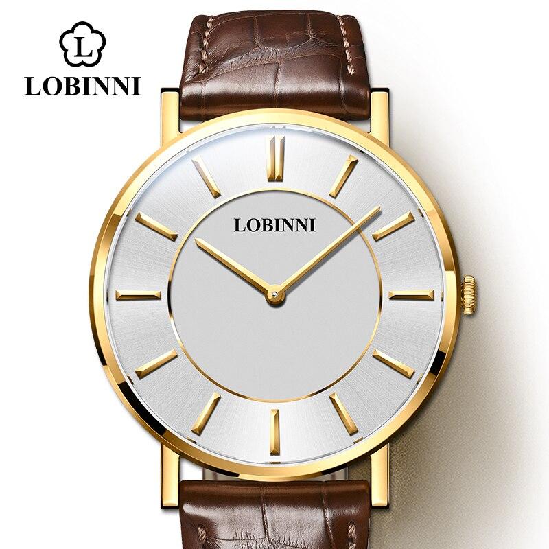 LOBINNI Women And Men Watches Luxury Couple Waterproof Wristwatch Japan Citizen Quartz Watch Sapphire Relogio Masculino