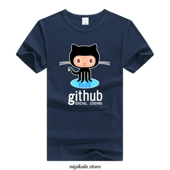 Camiseta TEEWINING Github, camiseta de manga corta para hombres y mujeres, camiseta The IT Crowd Streetwear, codificación Social