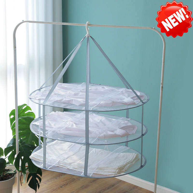 New Single Layer Double Layer Clothes Drying Net Home Dry Socks Doll Knitwear Artifact Sweater Special Drying Rack