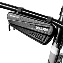 WILD MAN Bicycle Bag Front Tube Frame Bag Hard Shell Rainproof Bicycle Bag Large Capacity Triangle Tool Bag Riding Accessories bicycle front bag large capacity multi function front head bag folding bike electric car bag rainproof cover