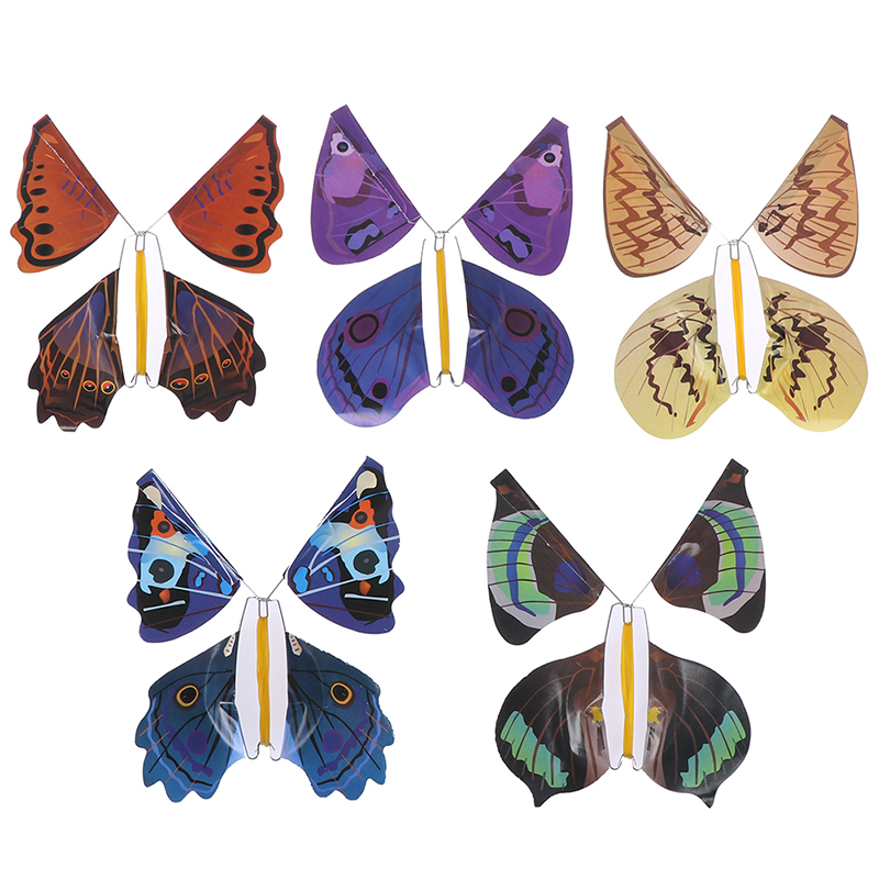 1Pc Card magic flying out butterfly surprise magic props mystical trick toys DG