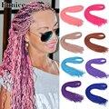 Длинные кудрявые косички Zizi, вязаные пряди волос, синтетические волосы для наращивания, плетеные волосы, блонд, чёрный, Zizi плетеные волосы