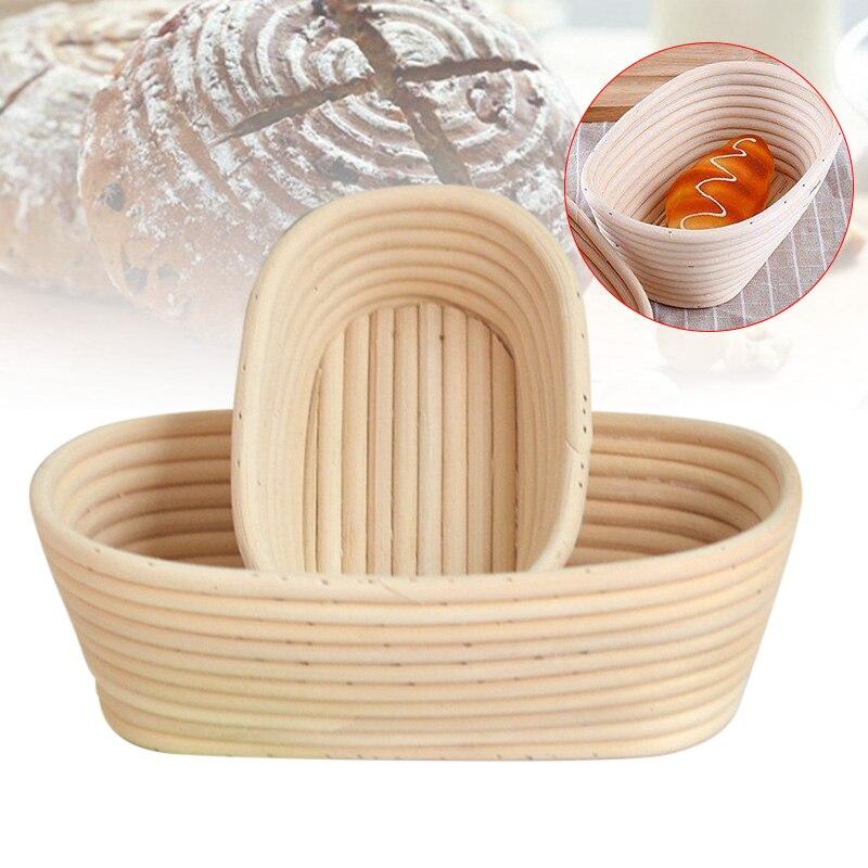 Oval Natural Rattan Fermentation Bread Basket Dough Wicker Rattan Mass Proofing Proving Baskets Rattan Banneton Baskets
