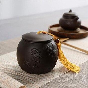 Traditionele Chinese Stijl Thee Blikjes Home Decor Art Voedsel Kleine Dingen Opbergdoos Grote Thee Doos Met Deksel Zout Spice potten Keramiek Theecaddies Huis & Tuin -
