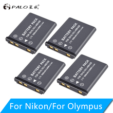 PALO 1-4pcs 1800mAh EN-EL10 EN EL10 LI-42B Li-40B LI 42B 40B battery for nikon OLYMPUS U700 U710 FE230 FE340 FE290 FE360 dste replacement 3 7v 1400mah battery charging dock set for en el10 fuji np 45 klic 7006