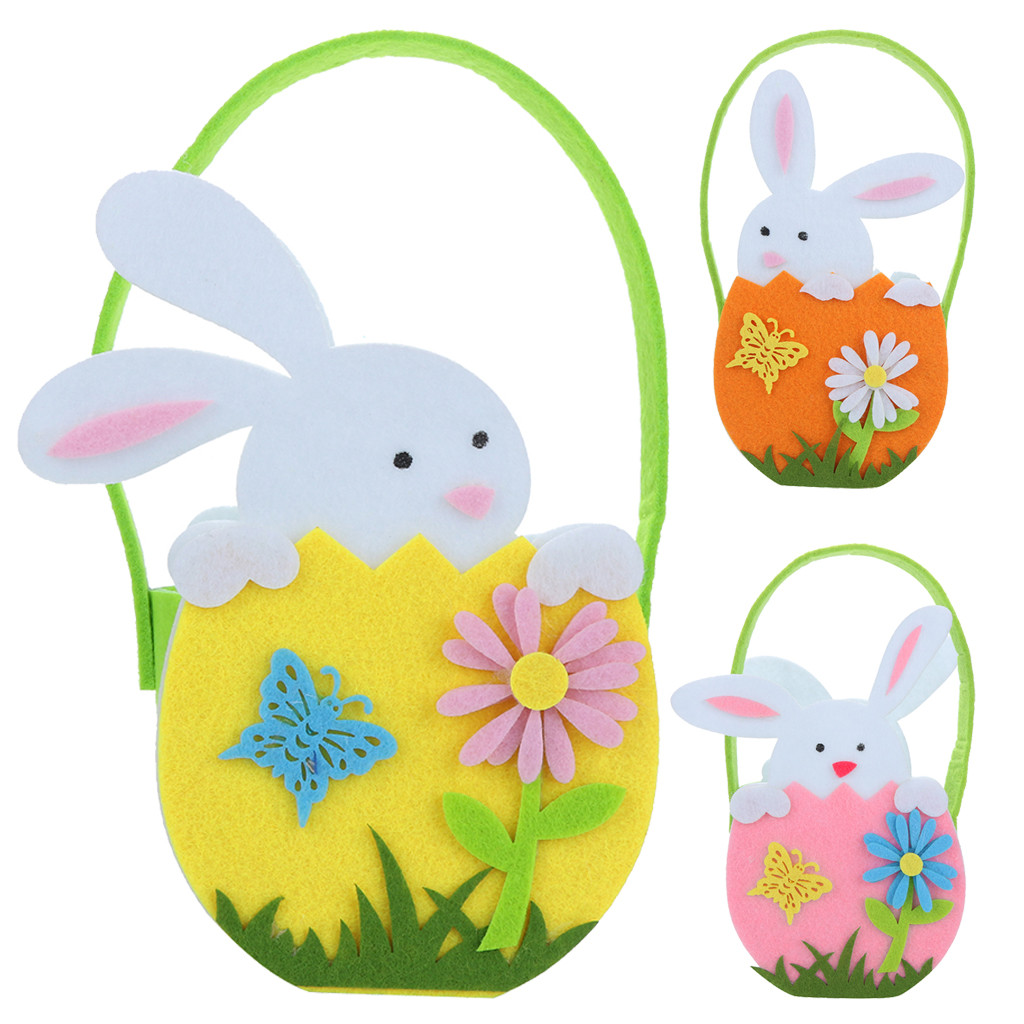 Happy Easter Cute Rabbit Candy Bags Greeting Cards Cookie Bags Bunny Gift Bags Baby Shower Birthday Party Decoration 1.2