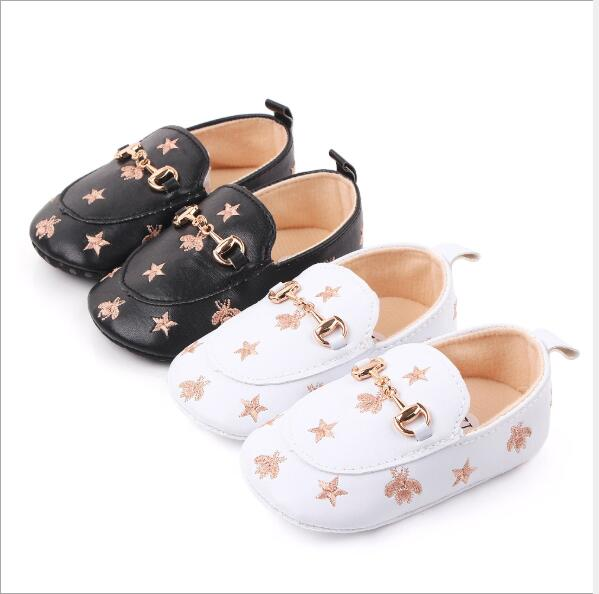 New Baby Casual Shoes Soft Bottom Infants PU First Walkers Anti-slip Baby Shoes Kids Boys Girls Crib Shoes