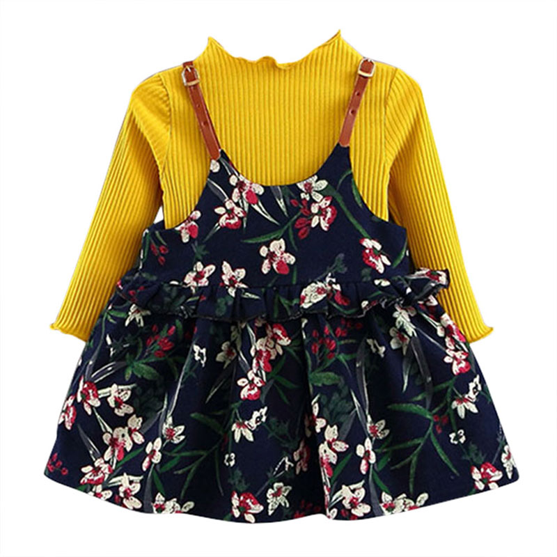 Baby Dress Long Sleeve Girl Knitted Dress 2019 New Fashion Style Girls Clothing Cotton Infant Baby Clothes Autumn