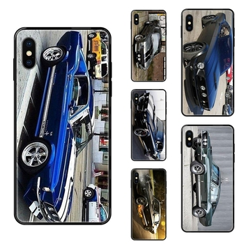 For Galaxy S5 S6 S7 S8 S9 S10 S10e S20 edge Lite Plus Ultra 1967 Mustang Shelby Car Fiyat Black Soft TPU Print Cover Case image