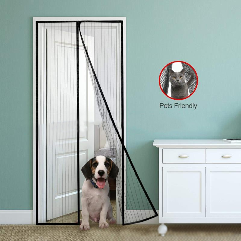Hook & Loop Fastener Fixed Insect Magic Door Net Screen Anti Mosquito Magnetic Bug Mosquito Fly Insect Curtain Mesh Guard
