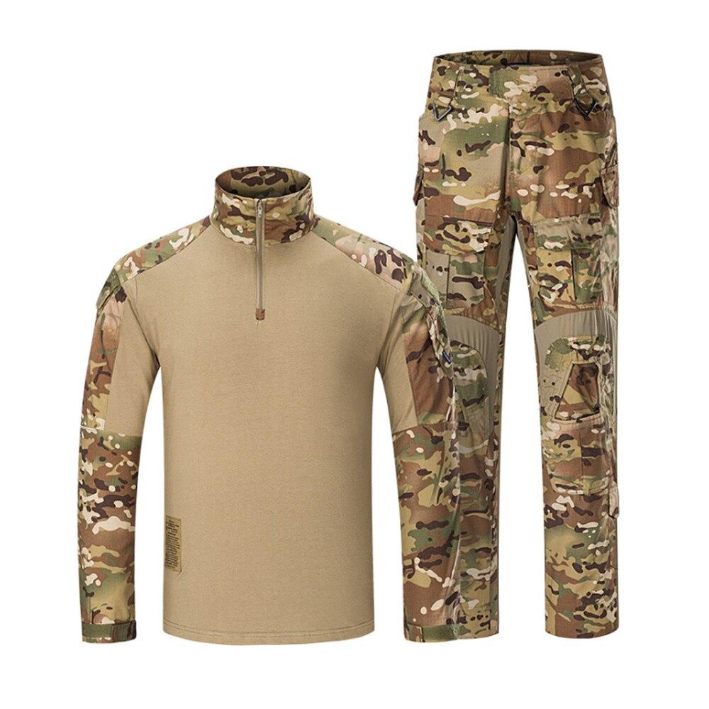 Klassieke Tactische Militaire Uniform Pak Mannen Leger Camouflage Paintball Pak Set Airsoft Paintball Multicam Cargo Shirt Met Broek - 2