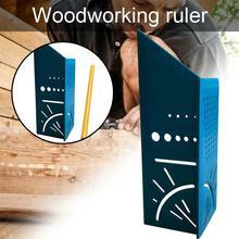 Holzbearbeitung 3D Gehrung Winkel Mess Platz Größe Messen drei Mit Messen dimensional Lineal mess Werkzeug & einzelteile P5Z0