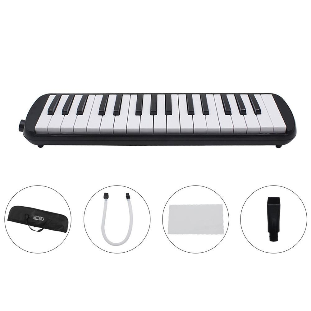Set 32 Key Piano Style Melodica With Box Organ Accordion Mouth Piece Blow Key Board Children Students Musical Instrument