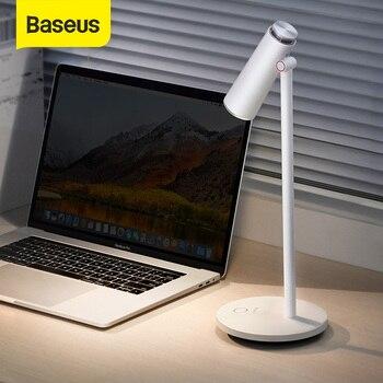 Baseus i-wok lámpara de escritorio regulable sin escalones lámpara de mesa de lectura protección ocular LED lámpara de escritorio Lámpara de trabajo recargable USB Lámpara de mesa de estudio