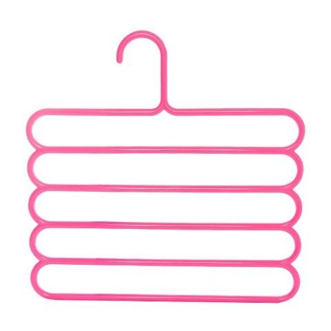 Многофункциональная сушилка для брюк вешалка для хранения брюк вешалка для одежды держатель для полотенец шкаф-Органайзер - Цвет: Pink