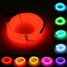 Новый светильник el wire 1/2/3/5/10 м гибкая неоновая светящаяся
