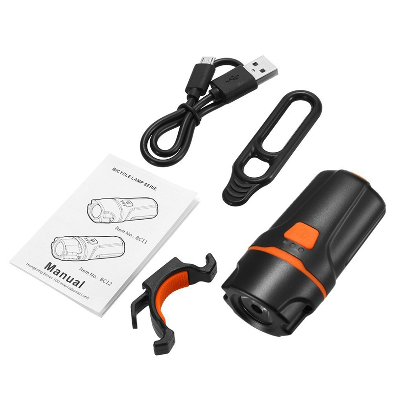 Bicycle Headlight Front Light LED Bicycle Light USB Rechargeable <font><b>Bike</b></font> Light <font><b>Flashlight</b></font> Bicycle Rear Lantern Cycling Headlight image