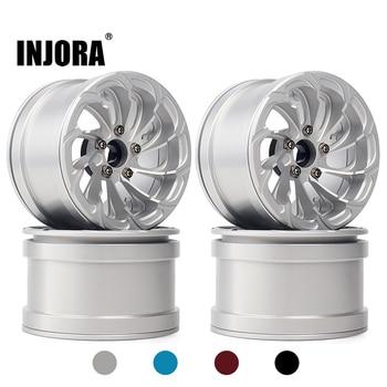 INJORA 4PCS Aluminum Alloy 2.2 Beadlock Wheel Rims for 1/10 RC Rock Crawler Axial SCX10 RR10 90053 90048 Wraith 90045 90018 1