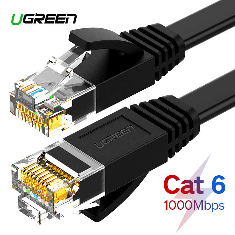 Ugreen Ethernet Cable Cat6 Lan Cable UTP CAT 6 RJ 45 Network Cable 10m/50m/100m Patch Cord for Laptop Router RJ45 Network Cable