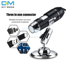 1600X /1000X/500X Mega Pixels 8 LED Digital Microscope Type-C/Micro 3 in one Electron