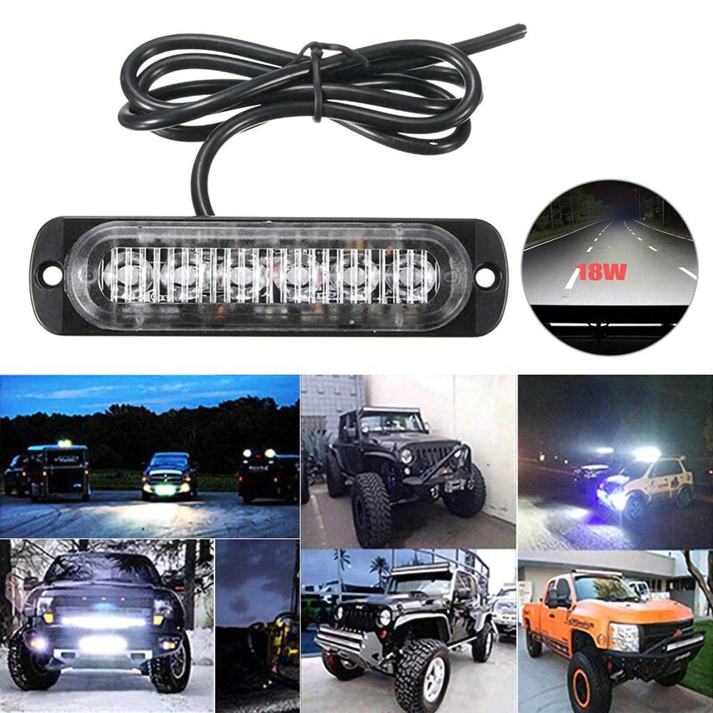 1pc Car 6 LED Lights Work Bar Lamp Car Truck Motorcycle Emergency Beacon Warning Hazard Flash Light Strobe Turn Light Bar