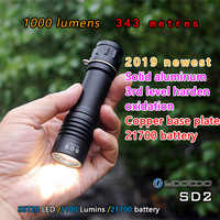 Yootoo plus récent SD2 SST20 1000 Lumens 4 modes 21700 li-ion batterie tactique lampe de poche LED