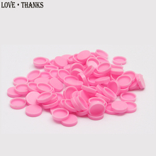 100pcs/bag Grafting eyelash glue cup Pink drop glue delay cup top glue cup beauty eyelash tool