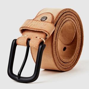 Image 4 - MEDYLA עור מקרית עיצוב חגורה של עבור גברים ג ינס מכנסי קזואל גברים של חגורת עור גברים של מתנות אורך של 130cm רחב 3.8cm