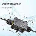 Герметичная распределительная коробка, IP68, 2 канала, 3 контакта, 6-12 мм, 24 а, 450 в