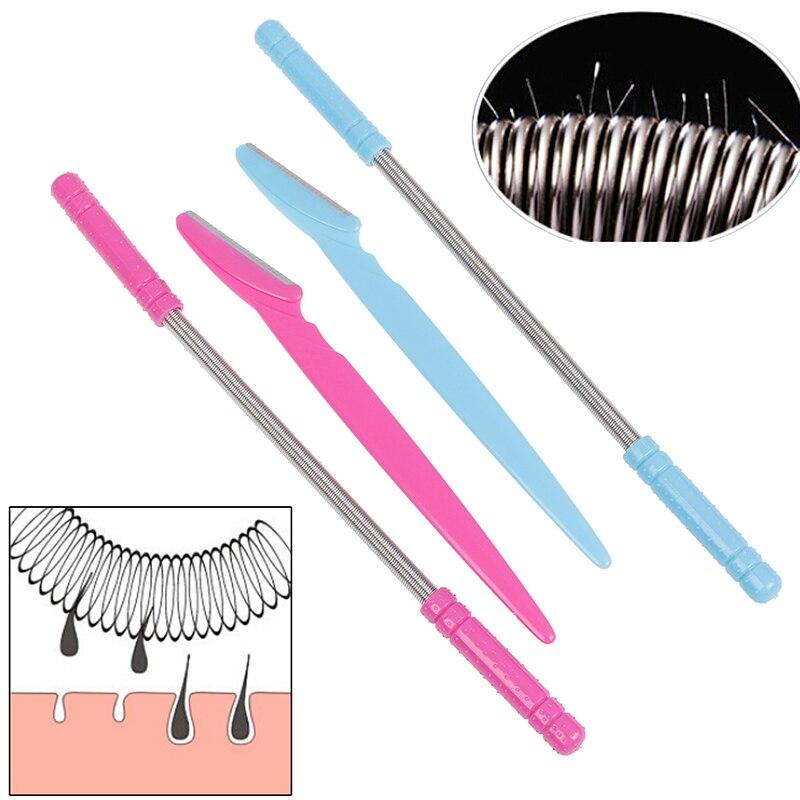 2pcs/lot Smooth Spring Facial Hair Remover Depilador Facial Facial Remover Spring Face Hair Remover Removal Stick Epilator