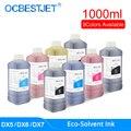1000 ML/Fles Eco-Solvent Inkt Voor Epson DX4 DX5 DX6 DX7 DX10 Printkop 4800 4880 7880 Eco solvent Inkt (9 Kleuren Beschikbaar)