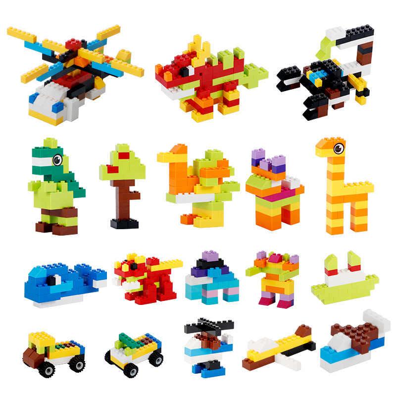 MMloveBB 1000 adet yapı taşları Sets şehir DIY yaratıcı tuğla uyumlu inglys tuğla toplu eğitim çocuk oyuncak blokları
