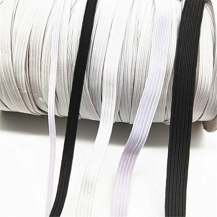 5/10 metros/lote plano y delgado banda elástica ancha de goma accesorios de ropa correas de nailon accesorios de costura de ropa negro blanco 5z