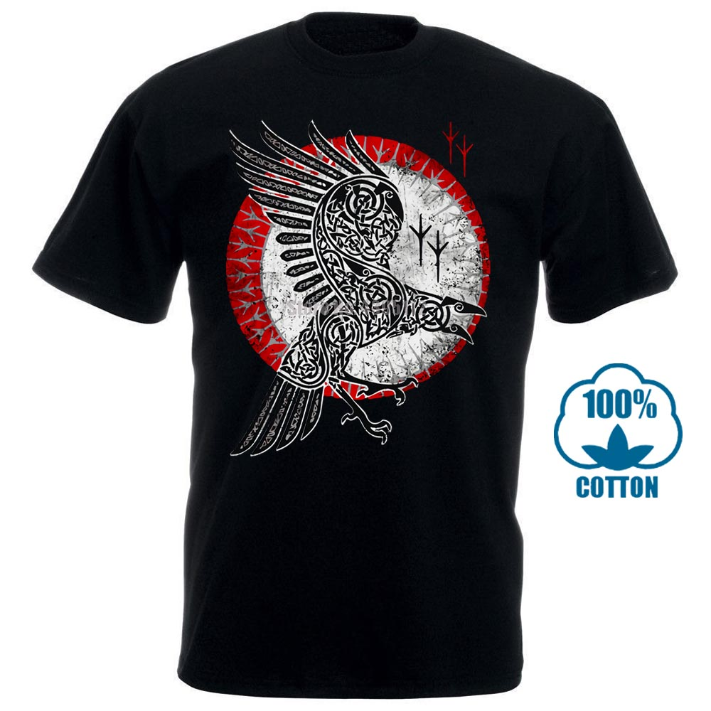 Norse Raven   T     Shirt   Hugin And Munin Valhalla Norse Vikings Odhin Odin Thor