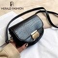 Stein Muster PU Leder Sattel Tasche Für Frauen 2019 Kleine Feste Farbe Schulter Umhängetasche Weibliche Casual Handtaschen und Geldbörsen