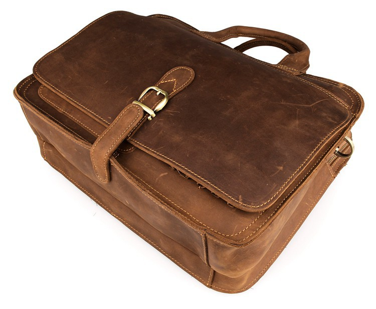 Haf743f27b1d048f9a5fa849f423344abk MAHEU Vintage Leather Mens Briefcase With Pockets Cowhide Bag On Business Suitcase Crazy Horse Leather Laptop Bags 2019 Design