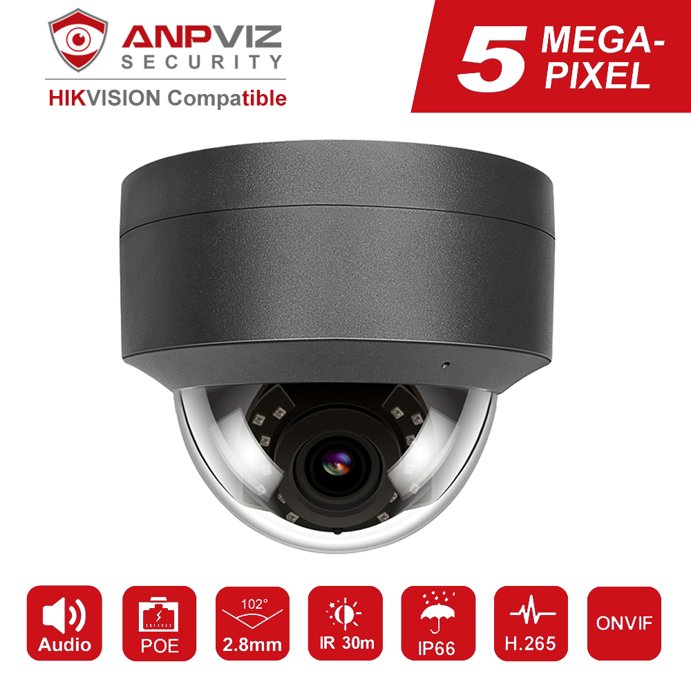 Kompatibel mit Hikvision H.265 5MP IP Kamera POE 2952*1944 Plug & Play Im Freien Dome Sicherheit Video Überwachung Kameras CCTV