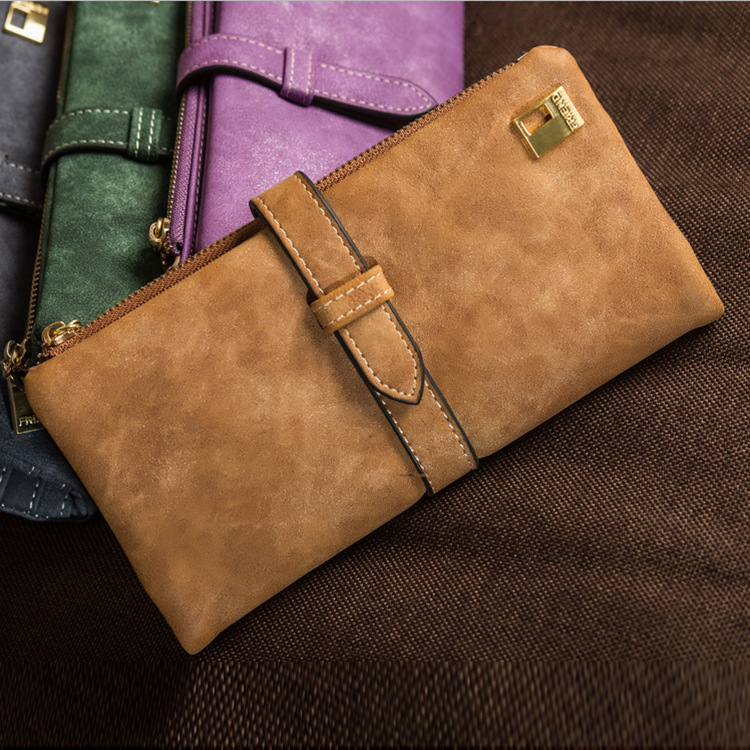 Purse Grip Wallet This Zipper with Buckle Change Frosted Year's New