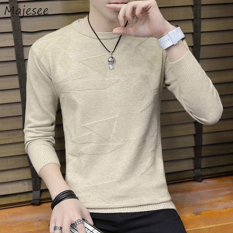 Sweater Men Clothing Solid All Match O-neck Long Sleeve Mens Sweaters 2020 Males Plus Size Korean Clothes High Quality Pullover